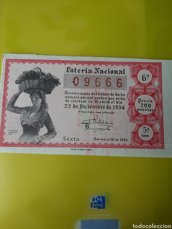1954 22 DICIEMBRE DÉCIMO LOTERÍA ESPAÑA (Coleccionismo - Lotería Nacional)