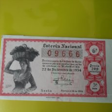 Lotería Nacional: 1954 22 DICIEMBRE DÉCIMO LOTERÍA ESPAÑA. Lote 204158868