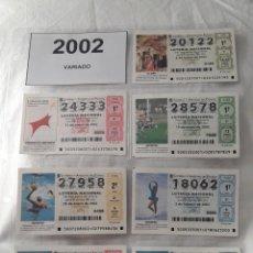 Lotería Nacional: LOTE 8 HOJAS 16 CARAS CON 120 BOLETOS LOTERÍA NACIONAL AÑO 2002 2003 2004. Lote 204784735