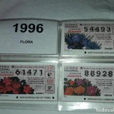 Lotería Nacional: LOTE 7 HOJAS CON 53 BOLETOS LOTERÍA NACIONAL JUEVES SORTEO FLORA AÑO 1996. Lote 204788317