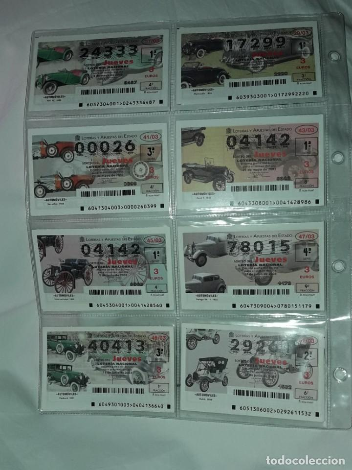 Lotería Nacional: Lote 7 hojas con 52 boletos Lotería Nacional Jueves Automóviles y Plumas año 2003 - Foto 4 - 204791893