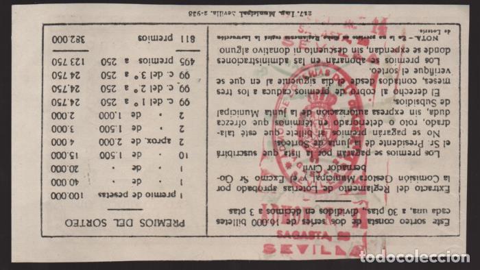 Lotería Nacional: LOTERIA PATRIOTICA- PARTICIPACION- 21 MARZO 1938-SORTEO Nº 8- VER FOTOS - Foto 2 - 205441951