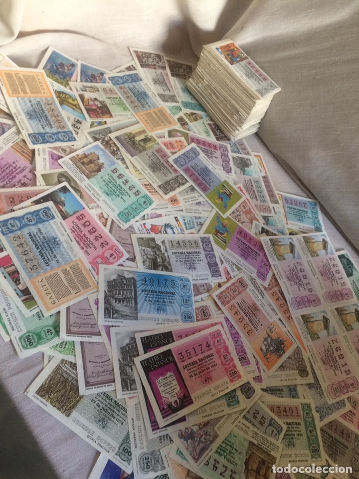 MAS DE 400 BILLETES DE LOTERIA ANTIGUOS! (Coleccionismo - Lotería Nacional)