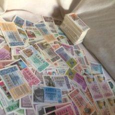 Lotería Nacional: MAS DE 400 BILLETES DE LOTERIA ANTIGUOS!. Lote 205547170