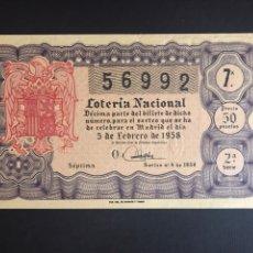 Lotería Nacional: LOTERIA AÑO 1958 SORTEO 4. Lote 205562752