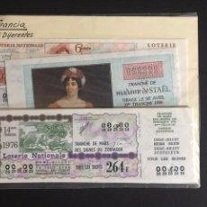 Lotería Nacional: LOTERIA DE FRANCIA 25 DÉCIMOS DIFERENTES. Lote 205582568