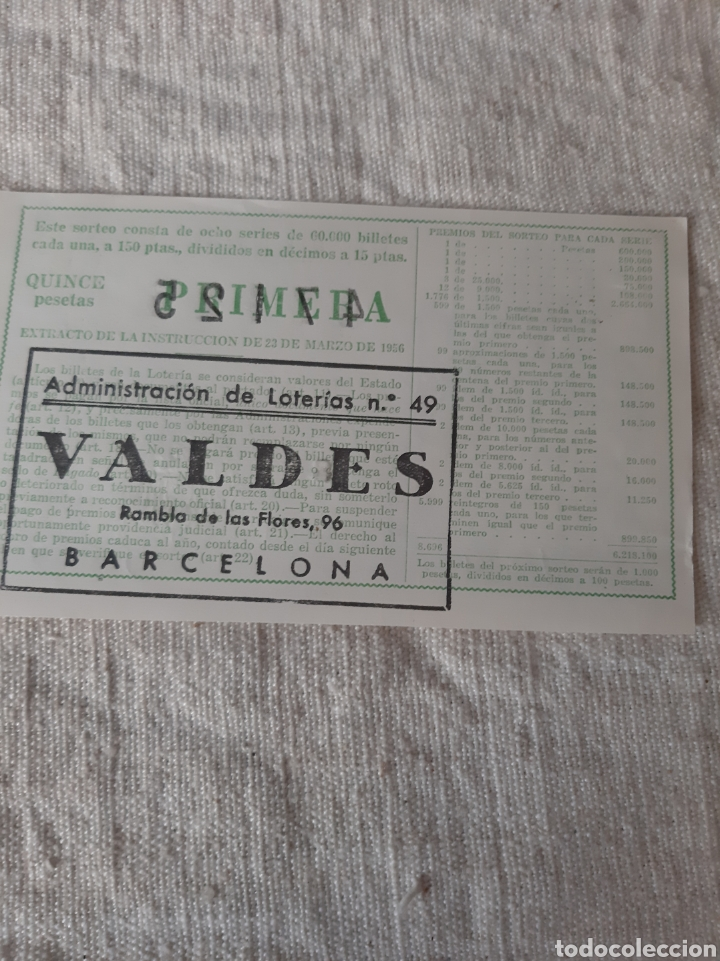 Lotería Nacional: 1960 25 JUNIO FRANCIDCO SIRIA AEDO 47125 ADMINISTRACIÓN VALDES NÚMERO 49 BARCELONA - Foto 2 - 205823926