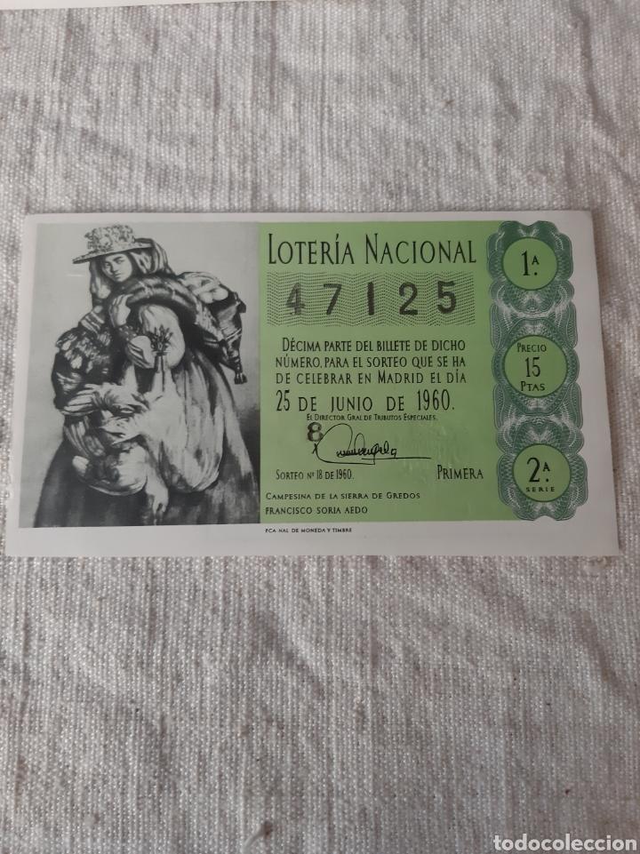 1960 25 JUNIO FRANCIDCO SIRIA AEDO 47125 ADMINISTRACIÓN VALDES NÚMERO 49 BARCELONA (Coleccionismo - Lotería Nacional)