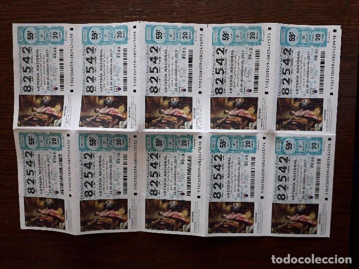 BLOQUE DE 10 DÉCIMOS LOTERÍA NACIONAL, SORTEO EXTRAORDINARIO DE NAVIDAD AÑO 2013, 105/13 (Coleccionismo - Lotería Nacional)