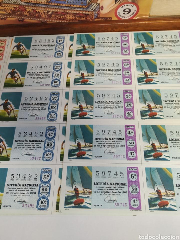 Lotería Nacional: 10 billetes de lotería Nacional 1968 - Foto 3 - 206819710