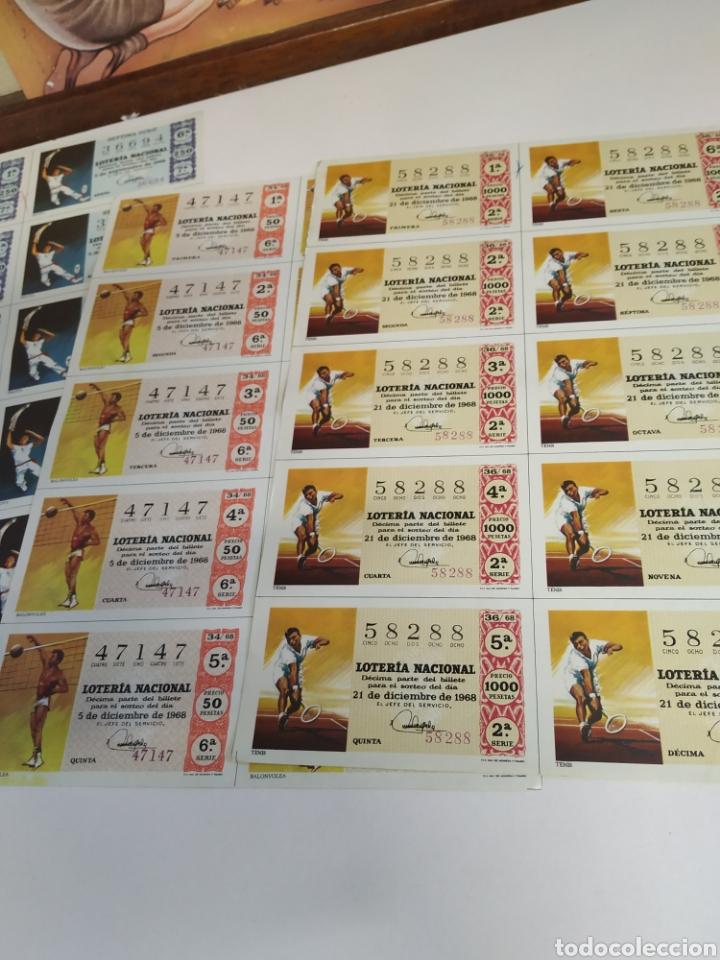 Lotería Nacional: 10 billetes de lotería Nacional 1968 - Foto 5 - 206819710