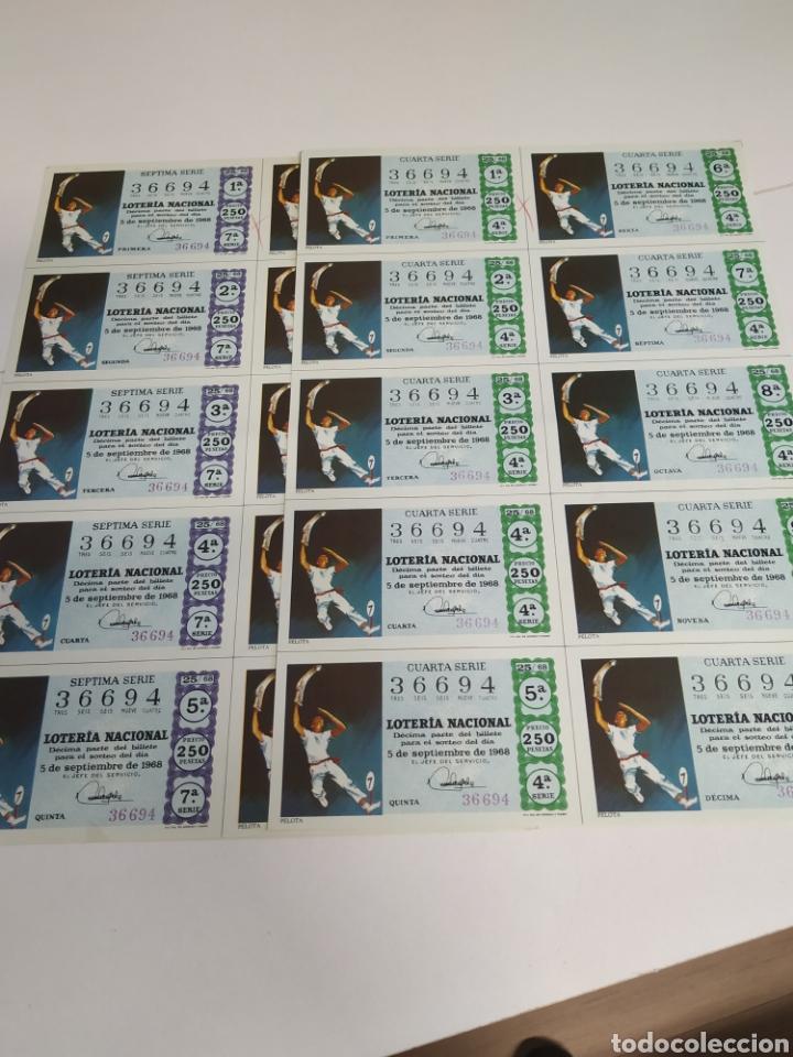 Lotería Nacional: 10 billetes de lotería Nacional 1968 - Foto 6 - 206819710