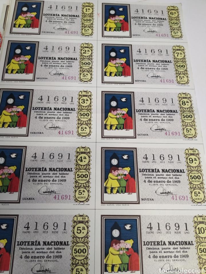 Lotería Nacional: 50 billetes de lotería Nacional 1969 - Foto 2 - 206821858