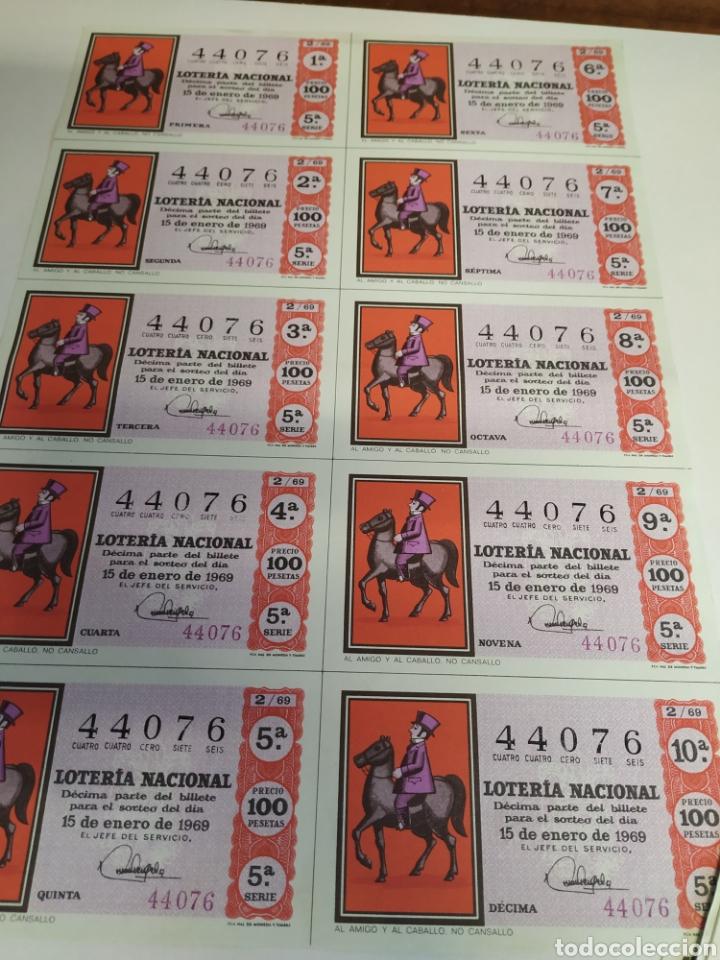 Lotería Nacional: 50 billetes de lotería Nacional 1969 - Foto 3 - 206821858