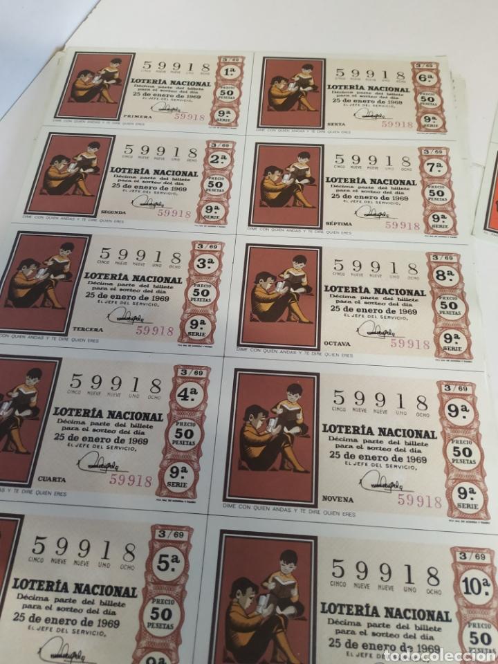 Lotería Nacional: 50 billetes de lotería Nacional 1969 - Foto 4 - 206821858