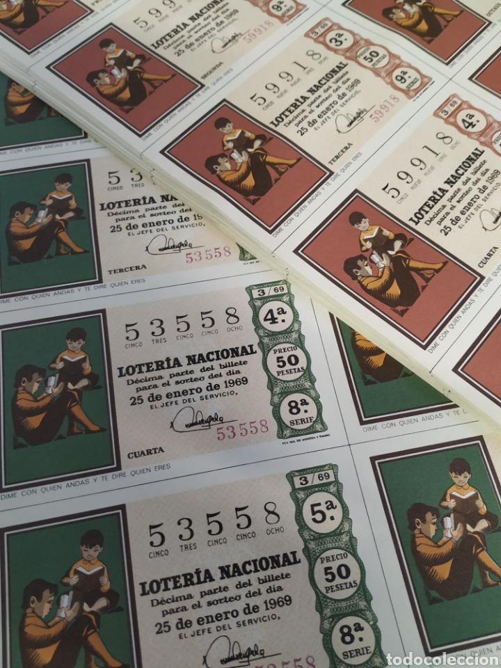 Lotería Nacional: 50 billetes de lotería Nacional 1969 - Foto 5 - 206821858