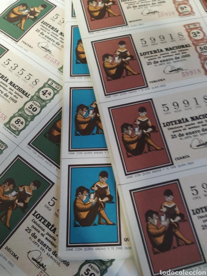 Lotería Nacional: 50 billetes de lotería Nacional 1969 - Foto 6 - 206821858