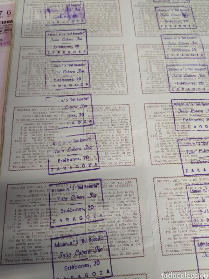 Lotería Nacional: 50 billetes de lotería Nacional 1969 - Foto 7 - 206821858