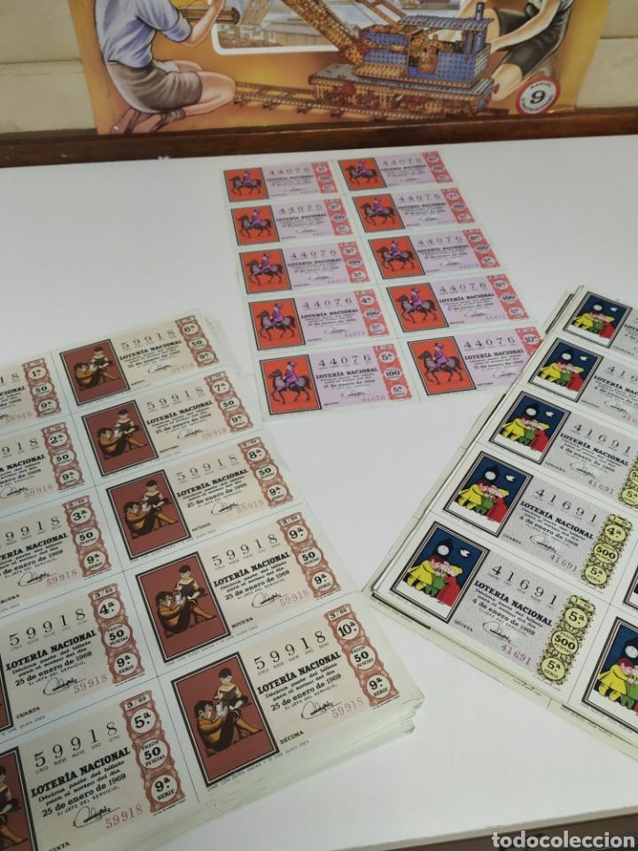 50 BILLETES DE LOTERÍA NACIONAL 1969 (Coleccionismo - Lotería Nacional)