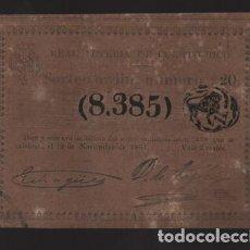 Lotería Nacional: REAL LOTERIA DE PUERTO RICO- SORTEO Nº 220. AÑO 1861- VER FOTO. Lote 206959750