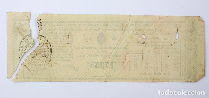Lotería Nacional: LOTERÍA - RIFA REAL CASA DE CARIDAD DE BARCELONA - Año 1857. 20x7 cm. - Foto 5 - 207064582