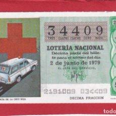 Lotería Nacional: LOTERIA SORTEO 21 DE 1979 CRUZ ROJA. Lote 207211262