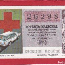 Lotería Nacional: LOTERIA SORTEO 21 DE 1979 CRUZ ROJA. Lote 207211452