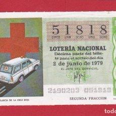 Lotería Nacional: LOTERIA SORTEO 21 DE 1979 CRUZ ROJA. Lote 207211512