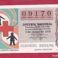 Lotería Nacional: LOTERIA SORTEO 21 DE 1976 CRUZ ROJA. Lote 207212528