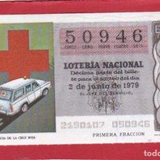 Lotería Nacional: LOTERIA SORTEO 21 DE 1979 CRUZ ROJA. Lote 207213476