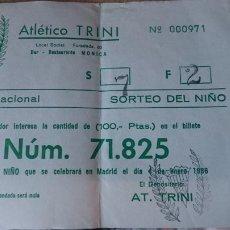 Lotería Nacional: PAPELETA SOBRE NUMERO LOTERIA AÑO 1986 ---- NUMERO 71825. Lote 207921191