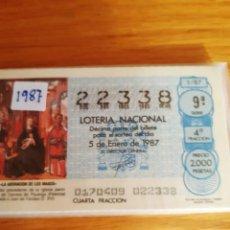 Lotería Nacional: LOETRIA DE LOS SABADOS. Lote 208236650