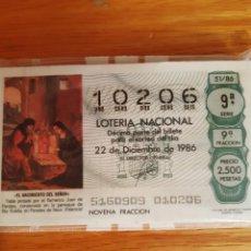 Lotería Nacional: LOTERIA DE LOS SABADOS. Lote 208238455
