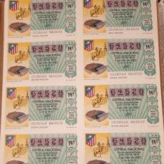 Lotería Nacional: COLECCION 263 PLIEGOS 2630 DECIMOS AÑOS DE 1978 HASTA 1987. Lote 208977545