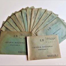 Lotería Nacional: LOTE DE 16 SOBRES LOTERIA NACIONAL MADRID. Lote 217819613
