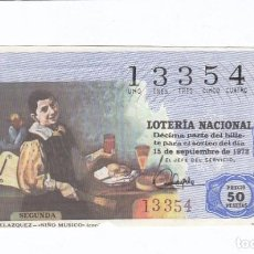Lotería Nacional: DÉCIMO DE LA LOTERÍA NACIONAL. SORTEO Nº 29 DE 1972. NÚMERO 13354.. Lote 210121606
