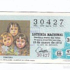 Lotería Nacional: DÉCIMO DE LA LOTERÍA NACIONAL. SORTEO Nº 16 DE 1972. NÚMERO 30427.. Lote 210122048