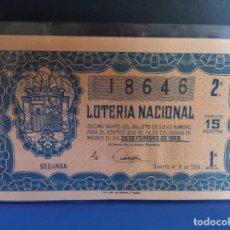 Lotería Nacional: LOTERIA NACIONAL 1959 SORTEO 6. Lote 210138607