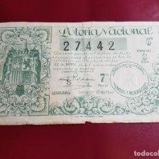 Lotería Nacional: LOTERIA DE 1944- SORTEO Nº 12. Lote 210843965