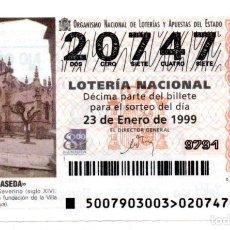 Lotaria Nacional: LOTERÍA NACIONAL - AÑO 1999 - SORTEO 7 - BALMASEDA: IGLESIA DE SAN SEVERINO -. Lote 212981088