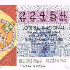 Lotería Nacional: LOTERIA NACIONAL DEL 5 DE FEBRERO DE 1983, MAPAMUNDI DE LAS ETIMOLOGIAS. Lote 213647548