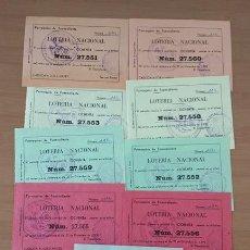 Lotería Nacional: LOTERIA NACIONAL DE NAVIDAD 9 PARTICIPACIONES AÑO 1978 SAN ANTONIO ABAD FUENCALIENTE TENERIFE. Lote 213802066