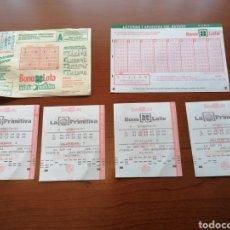 Lotería Nacional: BOLETOS Y APUESTAS PRIMITIVA Y BONOLOTO 1988 Y 1994. Lote 213953147