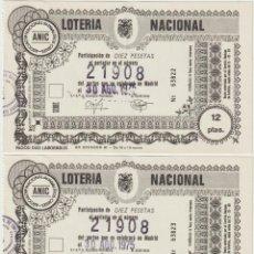 Lotería Nacional: PARTICIPACION LOTERIA NACIONAL. Lote 214145061