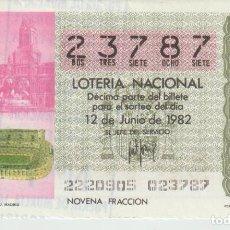 Lotería Nacional: LOTERIA NACIONAL MUNDIAL 1982. Lote 214881980