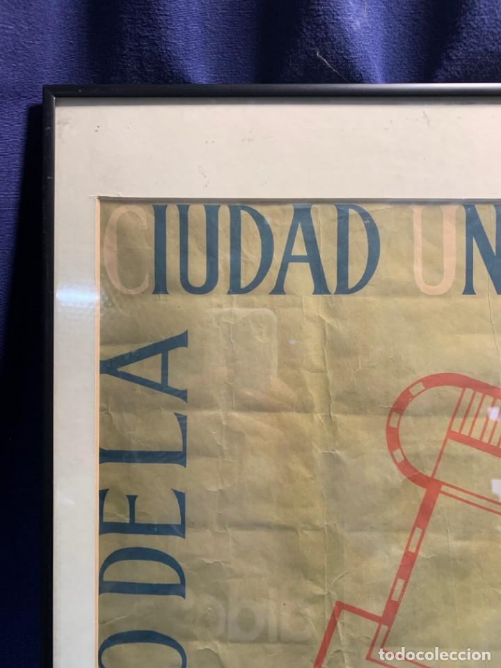 Lotería Nacional: CARTEL CIUDAD UNIVERSITARIA 3/4 20 JULIO 1940 LOTERIA DEL ALZAMIENTO 71X51CMS - Foto 3 - 217317186