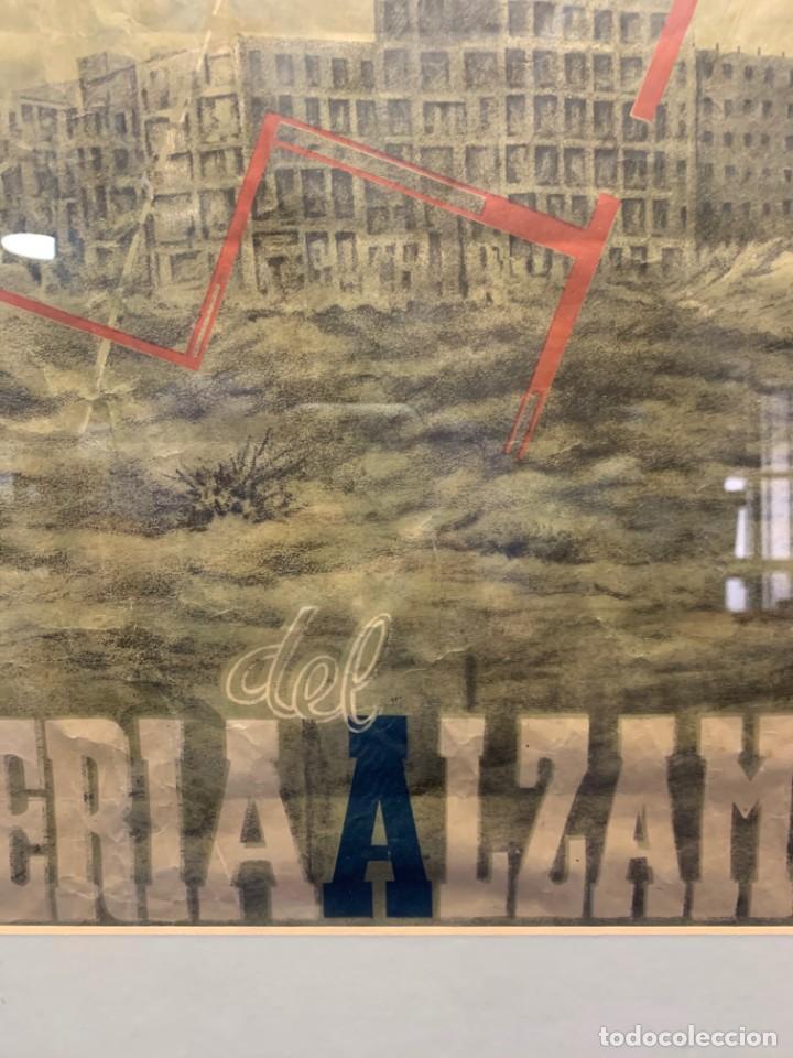 Lotería Nacional: CARTEL CIUDAD UNIVERSITARIA 3/4 20 JULIO 1940 LOTERIA DEL ALZAMIENTO 71X51CMS - Foto 9 - 217317186