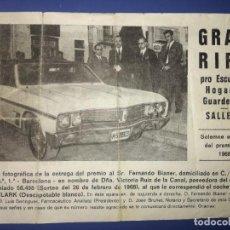 Lotería Nacional: GRAN RIFA. 1968.. Lote 218274540