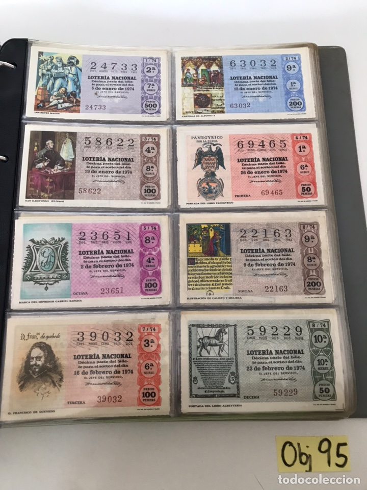 LOTE DE LOTERÍA NACIONAL AÑO 1974 (VER FOTOS) (Coleccionismo - Lotería Nacional)