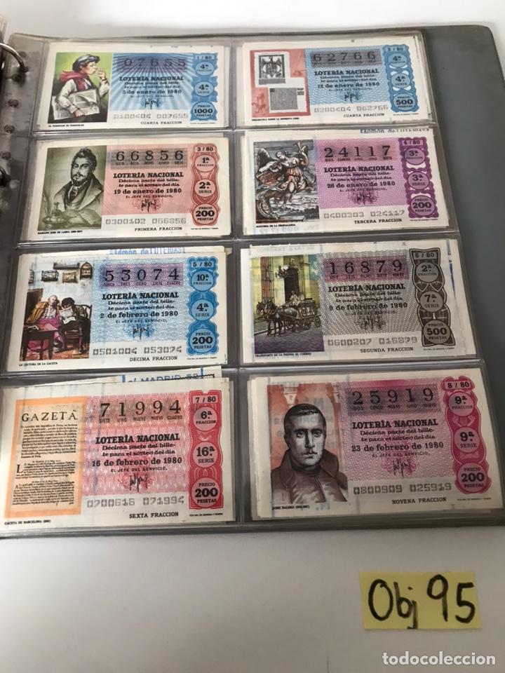 LOTE DE LOTERÍA NACIONAL AÑO 1980 (VER FOTOS) (Coleccionismo - Lotería Nacional)